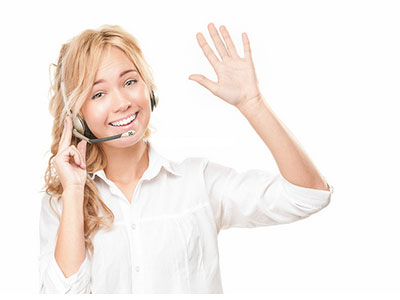 agent Answering on phone